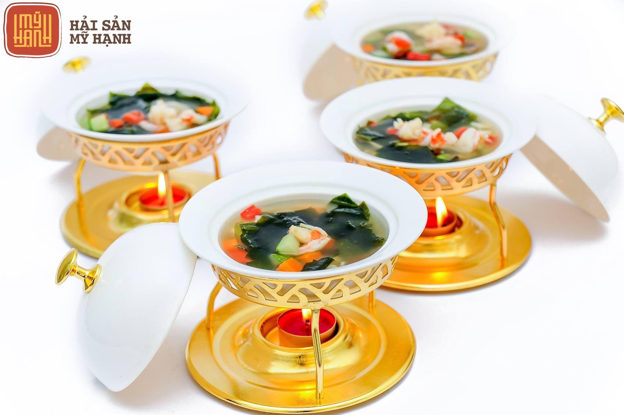 Soup tôm rong biển